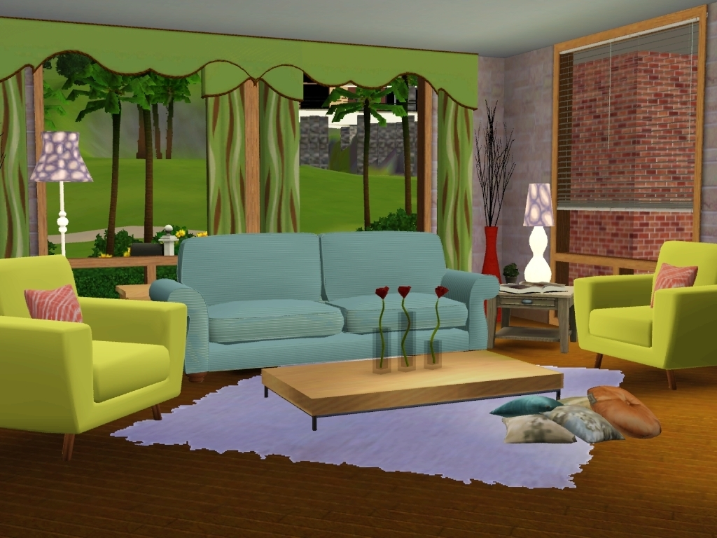 Livingroom the sims 3 wallpaper 17301000 fanpop for Sims 4 living room ideas