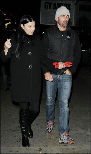 Matthew Fox and his wife in London on 21 November 2010.