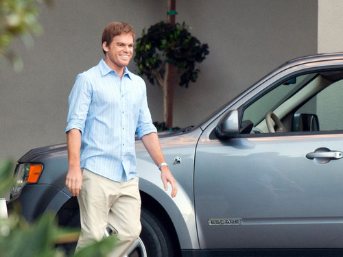 "Michael C. Hall wallpaper possibly containing a business suit, a hatchback, and a hatchback called Michael C. Hall Films ""Dexter"""