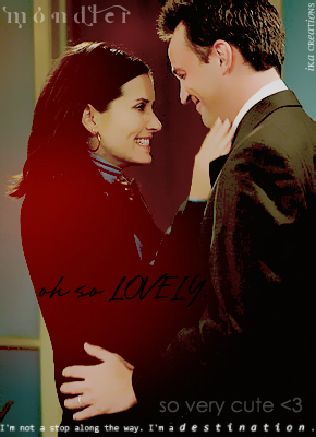 Monica and Chandler wallpaper probably containing a portrait entitled Mondler <3