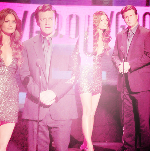 Nathan & Stana @ AMA '10 - nathan-fillion Fan Art