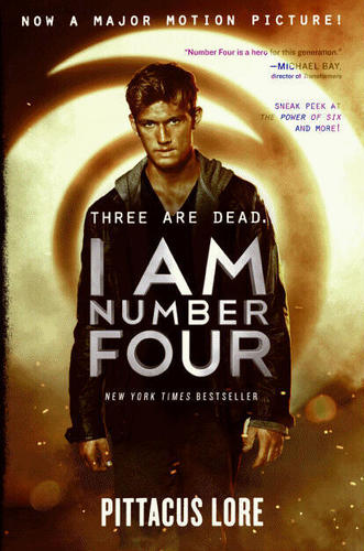 New I AM NUMBER FOUR book cover!!!