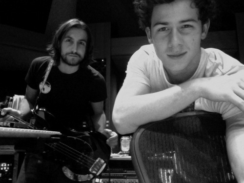Nick Jonas and Greg Garbowsky In The Studio (November 28)