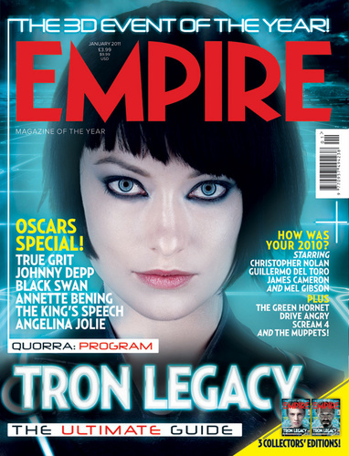 Olivia Wilde as Quorra on the Cover of the January 2011 Issue of Empire Magazine