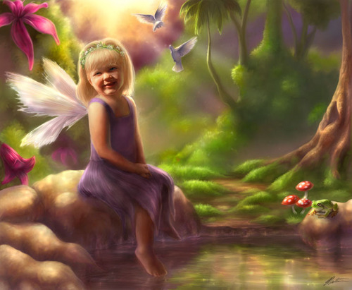 Portrait of a fairy