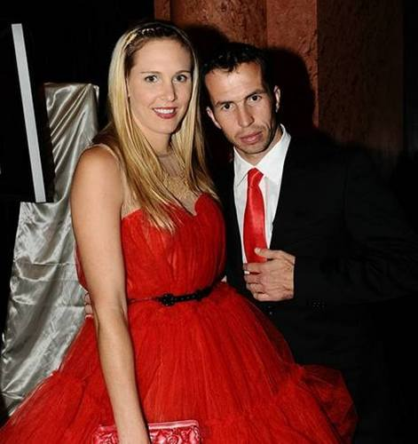 Radek Stepanek and wife