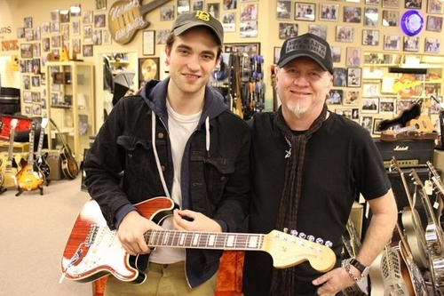 Rob at Norman's Rare Guitars on Saturday