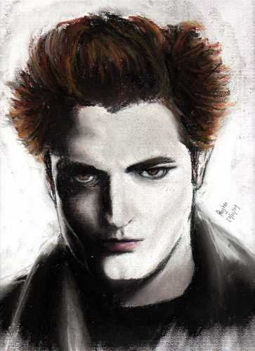 Robert Pattenson as Edward Cullen sketch