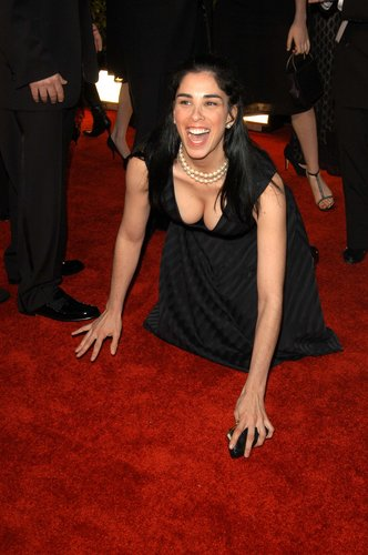 SARAH SILVERMAN with hairy arms