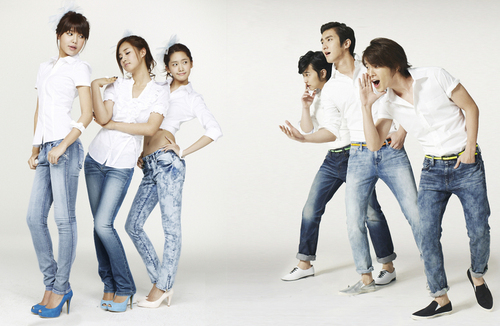 SNSD & Super Juniors for Spao Jeans