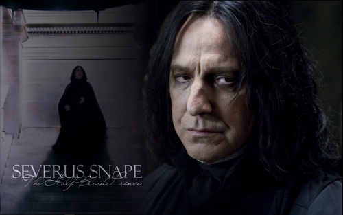 Severus Snape wallpaper containing a cloak and a wimple titled SS DH wallpaper