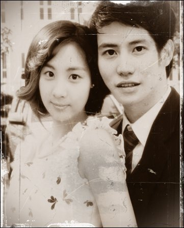 Super Generation: Super Junior & Girls' Generation wallpaper probably containing a bridesmaid entitled SeoKyu (Seohyun & Kyuhyun)