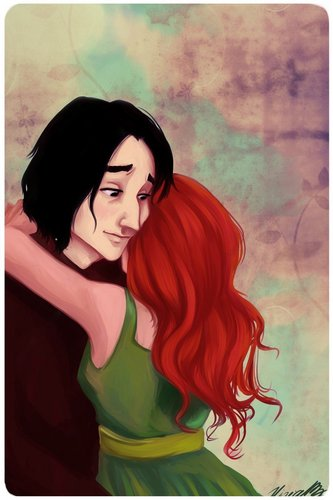 Severus Snape & Lily Evans wallpaper containing anime and a portrait called Snape and Lily