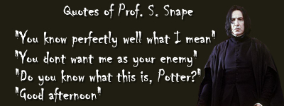 Funny Snape 语录