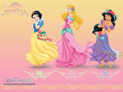Snow White,Aurora,Jasmine