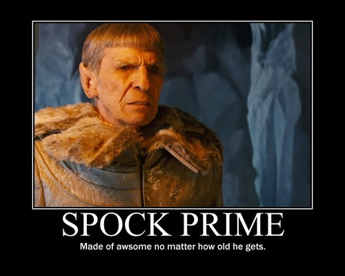 Leonard Nimoy wallpaper possibly containing a fur coat titled Spock Prime