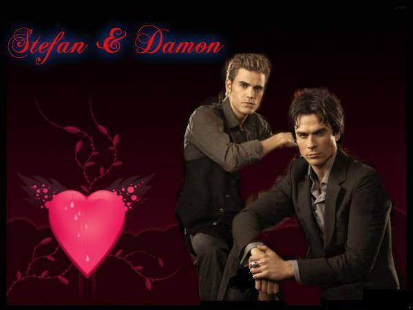 Stefan & Damon - The Vampire Diaries 600x450