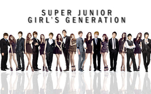 Super Generation: Super Junior & Girls' Generation wallpaper called Super Generation