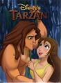 Tarzan & Jane - walt-disneys-tarzan photo