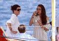 The Casiraghi Family on Their Yacht