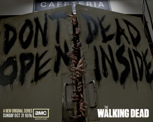 The Walking dead wallpaper with a sign entitled The Walking Dead
