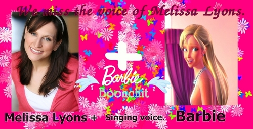 Barbie فلمیں پیپر وال probably with a portrait entitled We miss the voice of Melissa Lyons.
