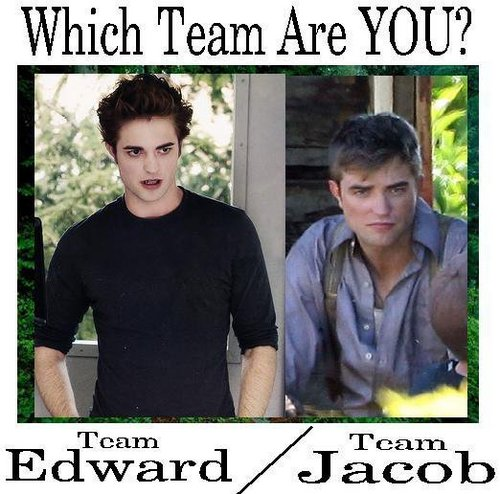Which team are 你 on? Team Edward 或者 Team Jacob? haha Edward!!