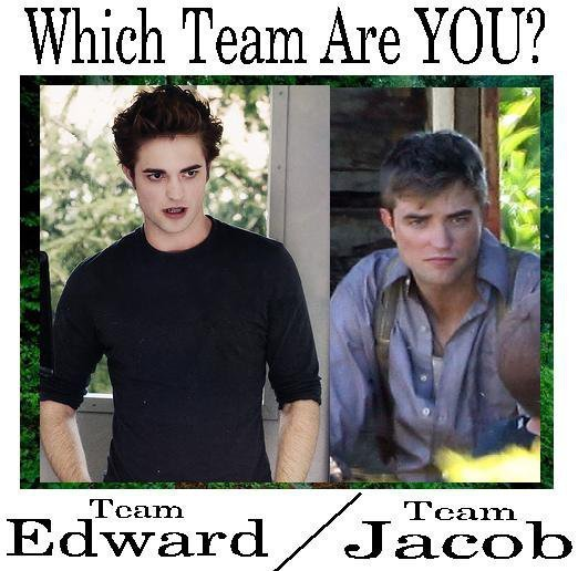 Which team are Du on? Team Edward oder Team Jacob? haha Edward!!