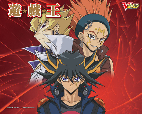 Yu-Gi-Oh 5Ds wallpaper containing anime entitled Crow, Jack, Yusei