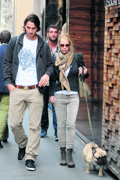 Zlatan Ibrahimovic and His Wife