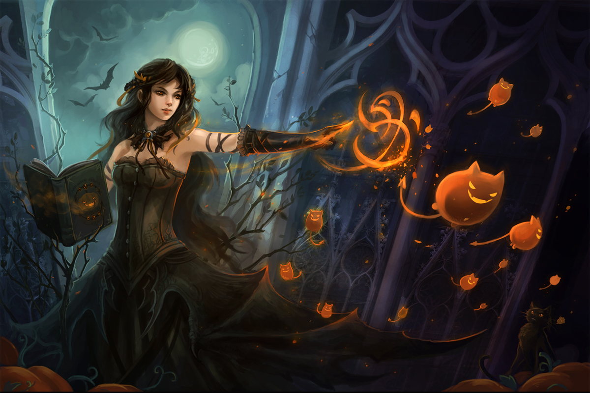 fantasy images halloween hd wallpaper and background photos