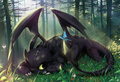 night fury/toothless - dragons fan art