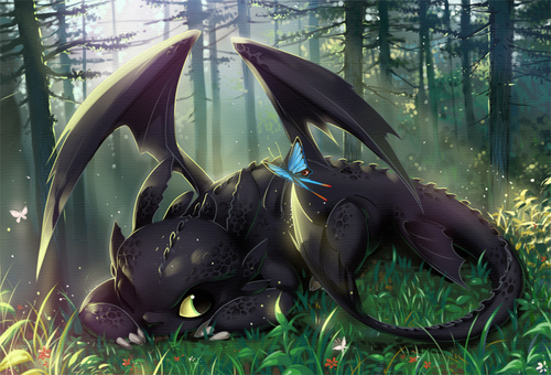 Dragons wallpaper titled night fury/toothless