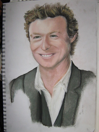 Simon Baker kertas dinding possibly with a business suit entitled simon baker sketch