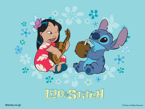 Lilo & Stitch wallpaper probably containing animê titled stitch