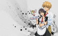 usui &amp; misaki - kaichou-wa-maid-sama wallpaper