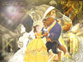 ♥ Beauty and the Beast karatasi la kupamba ukuta