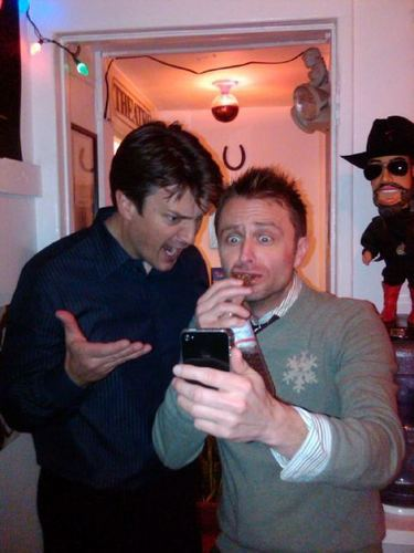 """""""Tweeting my excitement over """"Fillion's Fusterclucks"""" a chocolatey treat made by Nathan."""""""