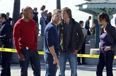NCIS: Los Angeles 壁紙 with a carriageway, a street, and a crash barrier entitled 2.11 - Disorder - Promotional 写真