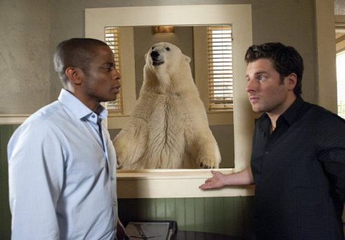 "Psych wallpaper called 5x15 ""Dead Bear Walking"" promo pics"