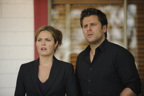"""Psych 壁纸 containing a business suit, a suit, and a well dressed person titled 5x15 """"Dead 熊 Walking"""" promo pics"""
