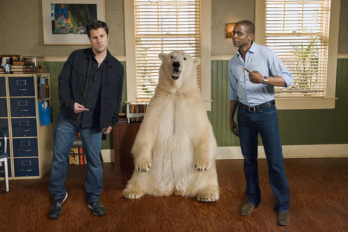 "Psych wallpaper possibly with an afghan hound titled 5x15 ""Dead Bear Walking"" promo pics"