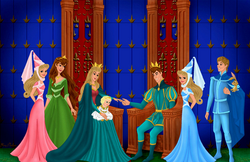 Princess Aurora achtergrond called A big Family!