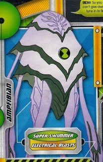 Ben 10: Ultimate Alien achtergrond possibly containing a sign and a straat called AmpFibian