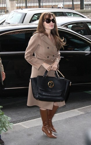 Angelina out in Paris