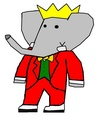 Babar - Christmas Suit - babar-the-elephant fan art
