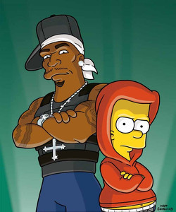 Bart Simpson and 50 Cent