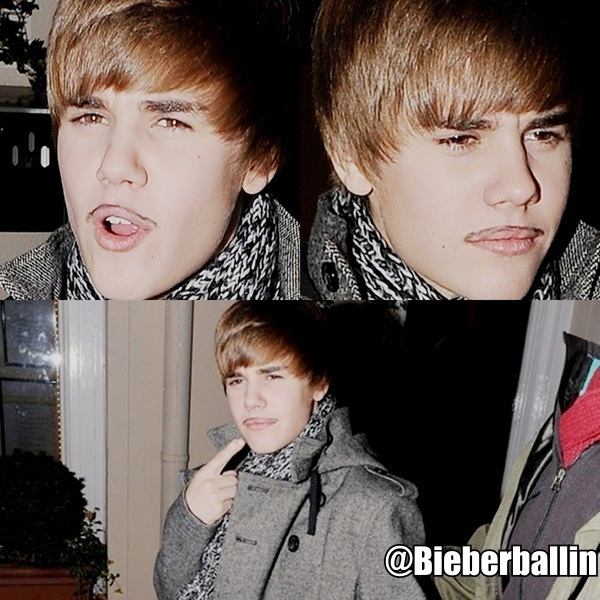 justin bieber mustache pics. Biebers sexy mustache ;) Lmfao