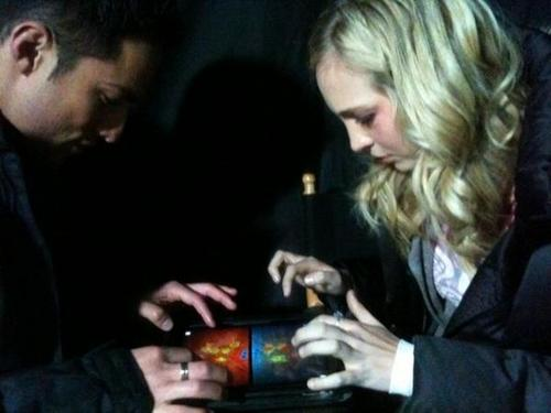 Candice & Michael playing iPad games
