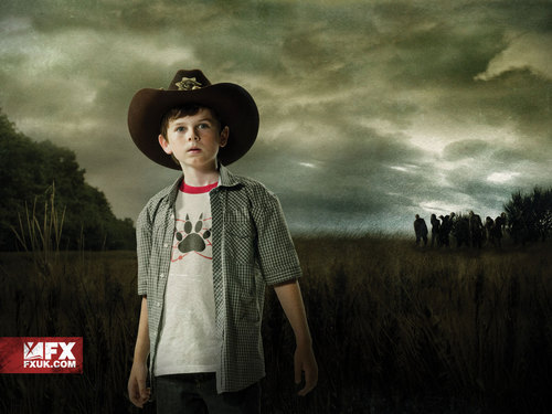 The Walking dead wallpaper containing a fedora titled Carl Grimes